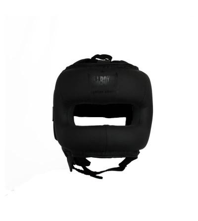 Casco de boxeo con barra; color negro mate. Bushi Sport