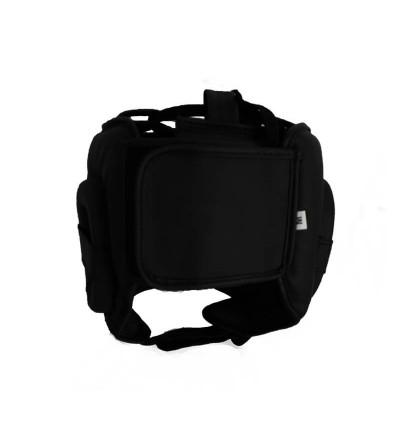 Casco de boxeo con barra; color negro mate. Bushi Sport (1)