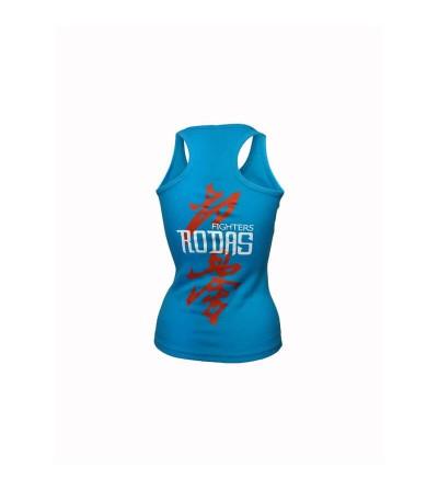 Camiseta con tirantes estilo nadadora en color azul turquesa. Bushi Sport. (1)