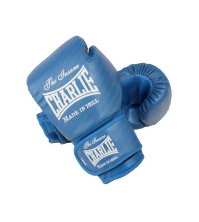 Guantes de boxeo modelo Blast de Charlie de color azul. Bushi Sport