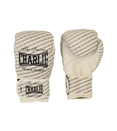 guantes boxeo de Charlie modelo Blast en color blanco disponibles en Bushi Sport.(1)