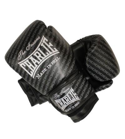 Guantes boxeo de Charlie modelo Blast en color negro, disponibles en Bushi Sport.