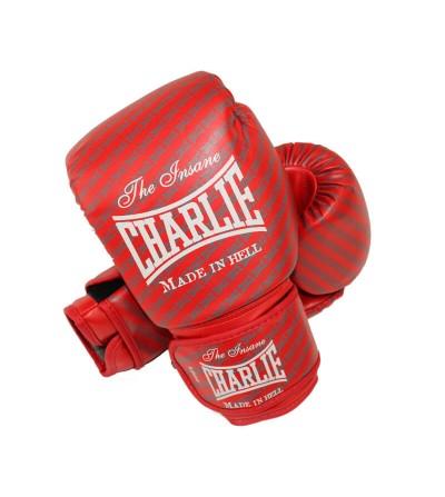 Guantes boxeo de Charlie modelo Blast en color rojo, disponibles en Bushi Sport.