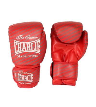 Guantes boxeo de Charlie modelo Blast en color rojo, disponibles en Bushi Sport.(1)