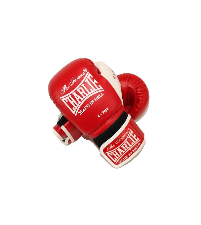 Guantes de boxeo en color rojo para los más pequeños de la casa. Bushi Sport