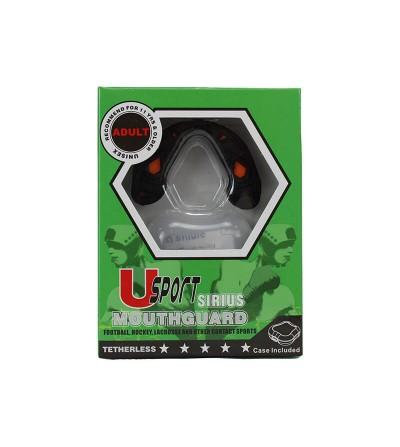 Protector bucal triple capa, en color negro. Bushi Sport