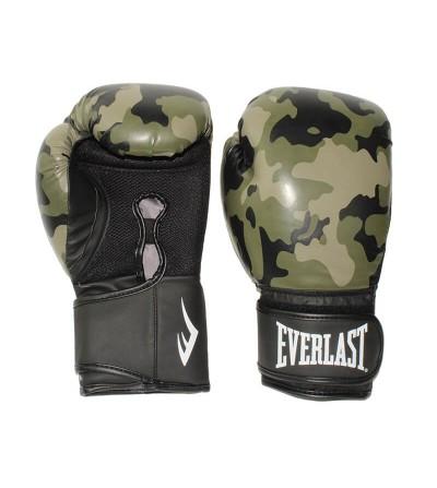 Guantes de boxeo Everlast Spark modelo camo en 14 oz. Bushi Sport