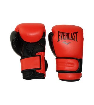 Guantes de boxeo poweloclk, color rojo de Everlast. Bushi Sport