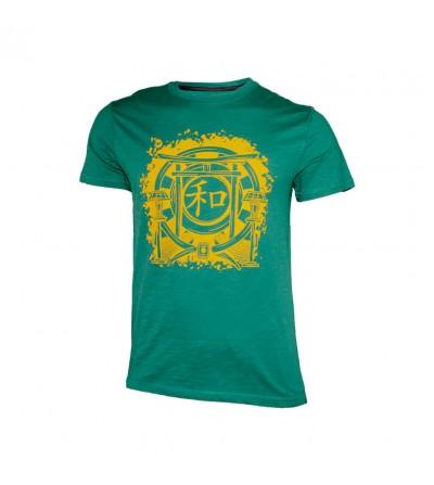 Camiseta Harmony en color verde turquesa. Bushi Sport