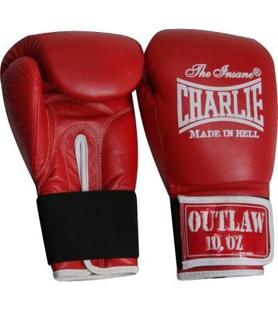 Guantes boxeo de piel. Color rojo.  Modelo Ouwlat. Marca Charlie. Bushi Sport, tu tienda de boxeo.