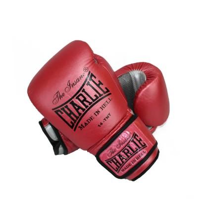 Guantes boxeo 14 oz. Color cherry metálico. Bushi Sport